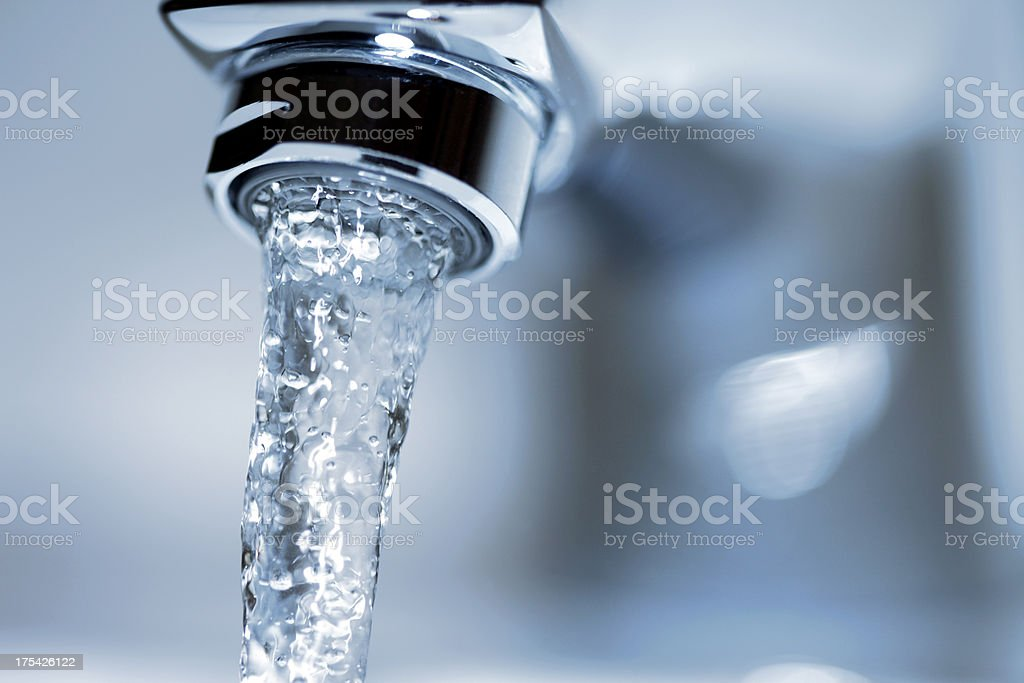 Running Water Faucet stock photo