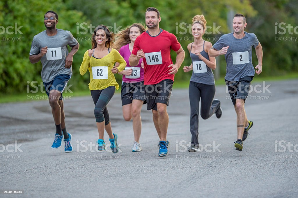 Running with the Competition stock photo