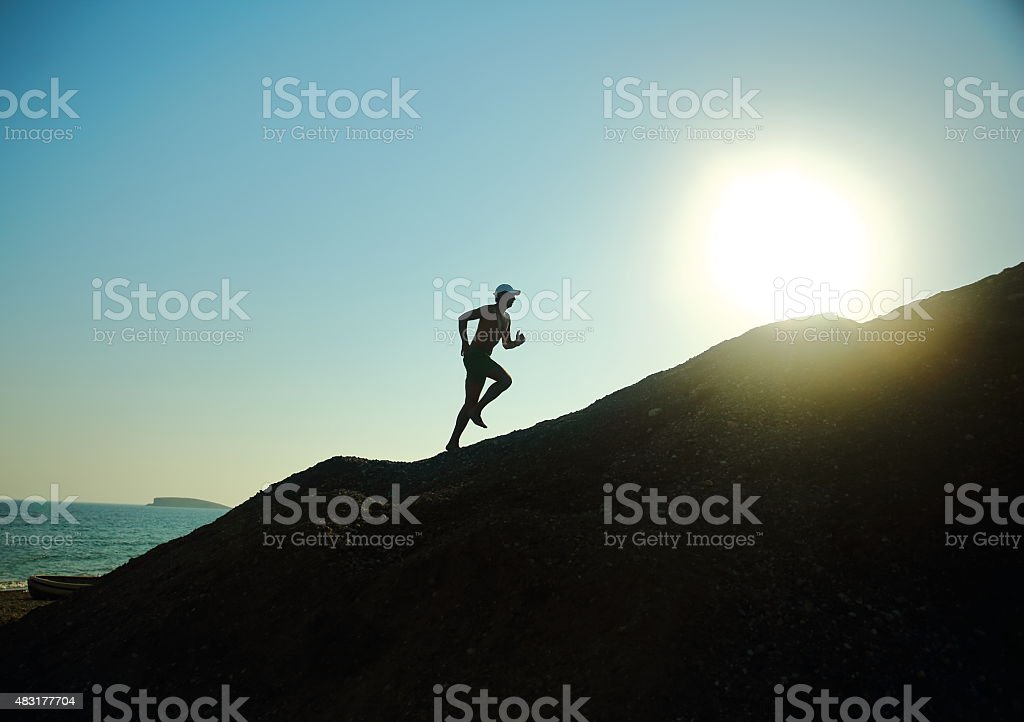 Running With The Sun stock photo