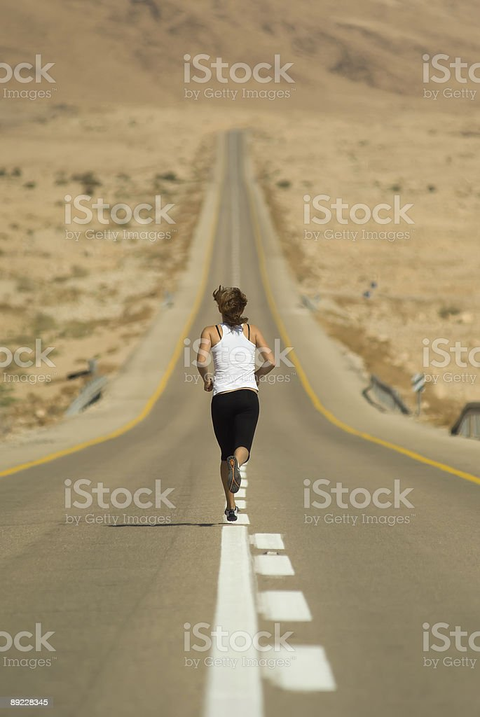 Running young girl royalty-free stock photo