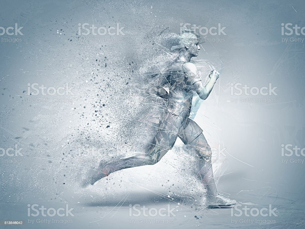 running,abstract stock photo