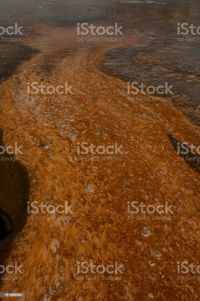 Runoff from hotspring royalty-free stock photo