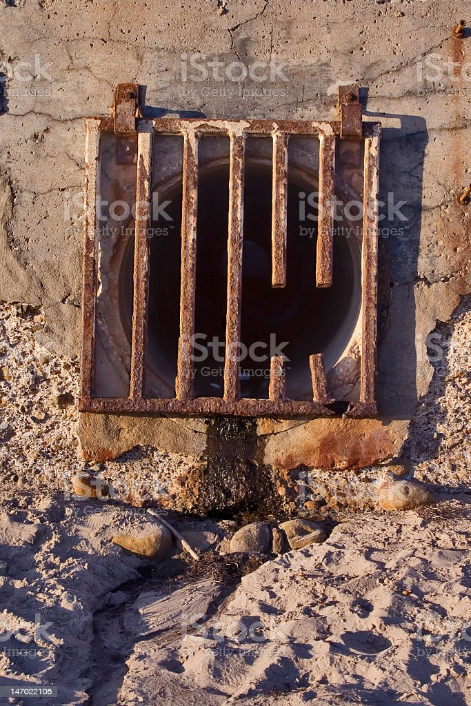 Runoff Grate royalty-free stock photo
