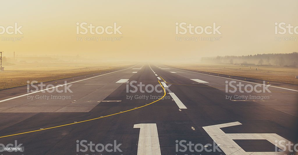 Runway 16/34 Zurich Airport stock photo