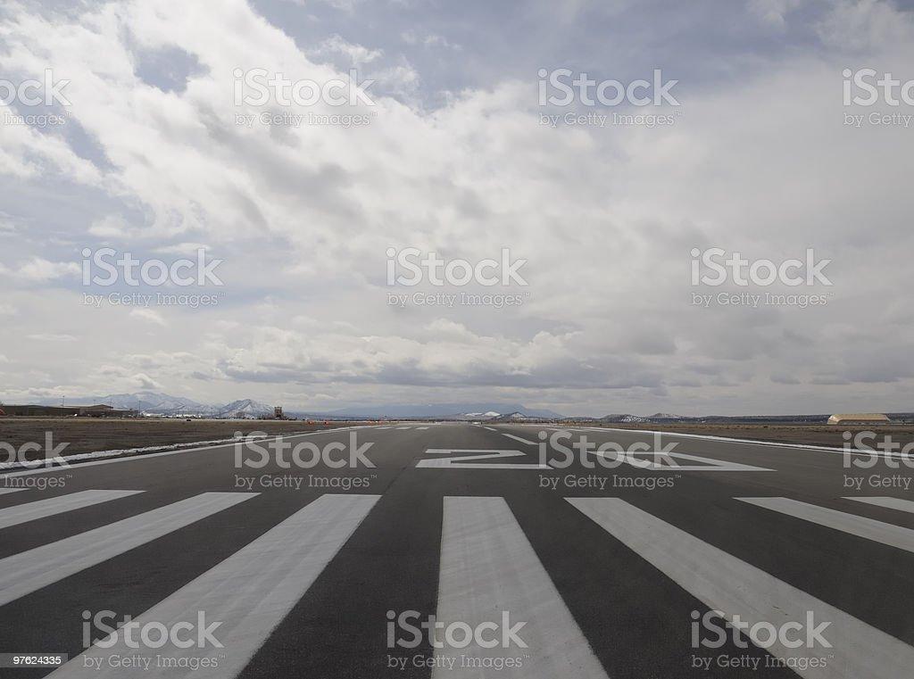 Runway 20 Santa Fe royalty-free stock photo