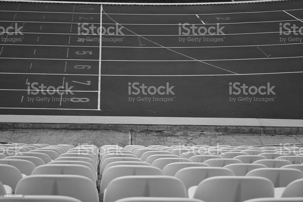 runway and auditorium stock photo
