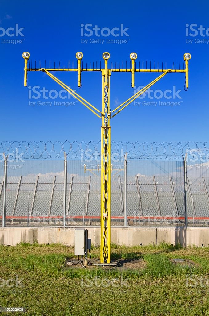Runway approach light royalty-free stock photo