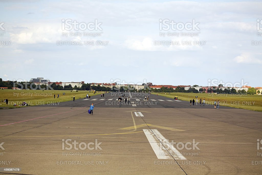 Runway Berlin Tempelhof stock photo