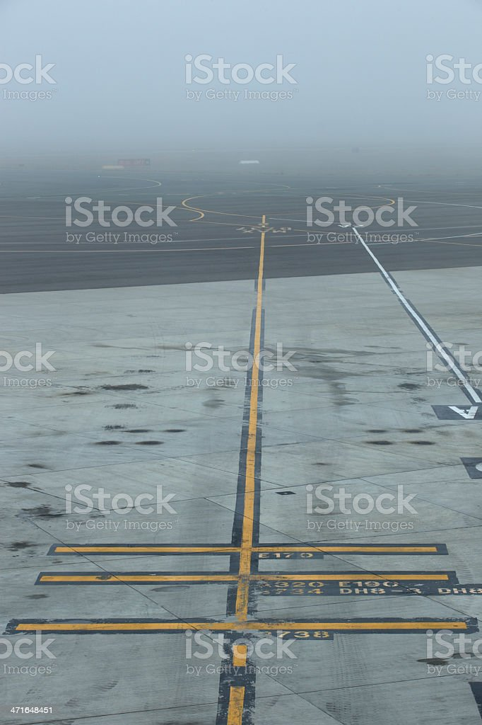 Runway Fog stock photo