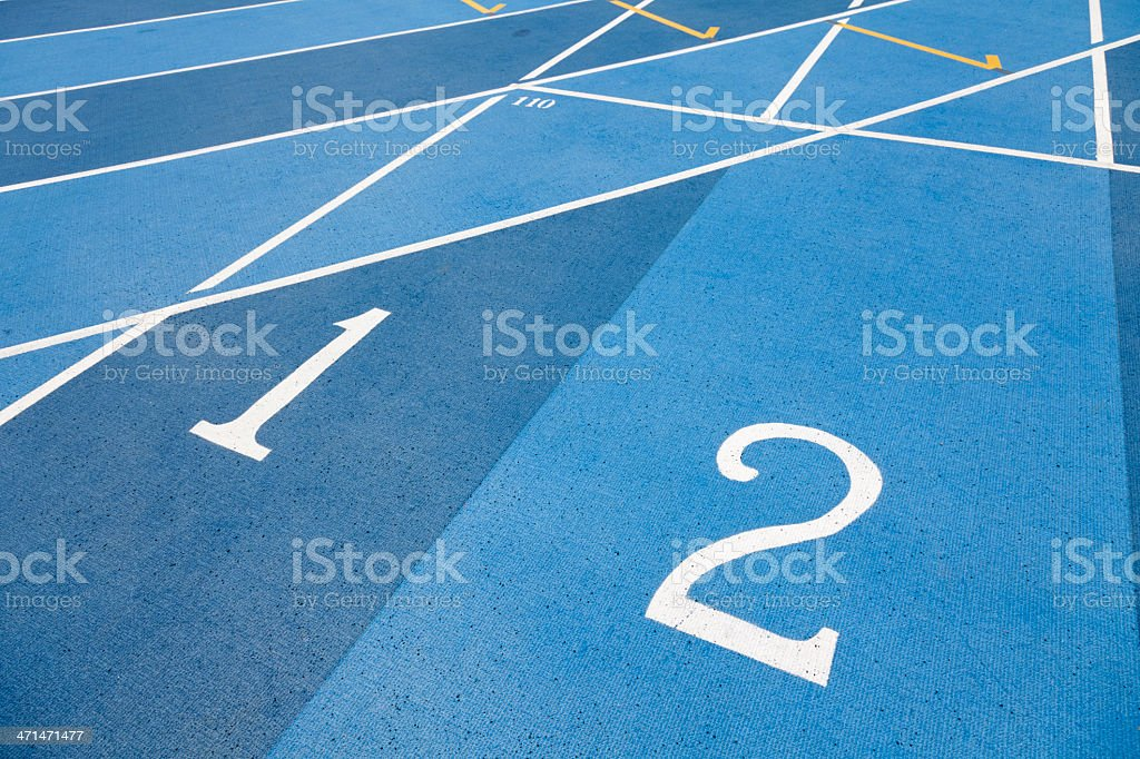 Runway Numbers royalty-free stock photo