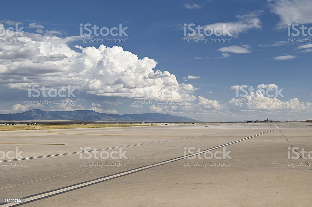 Runway stock photo