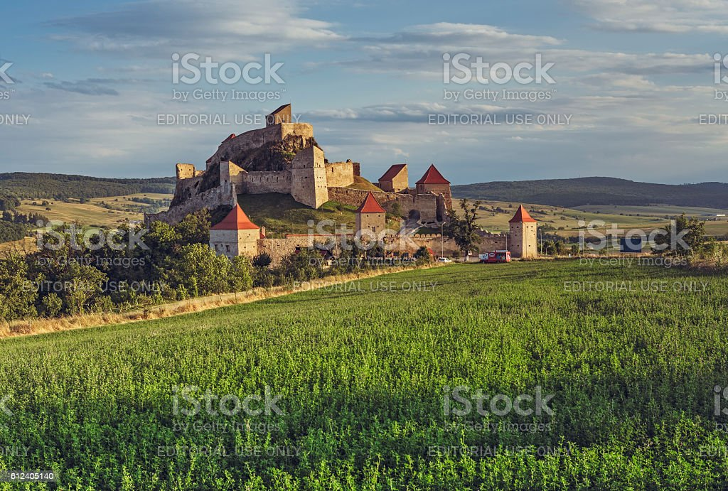 Rupea fortress, Romania stock photo