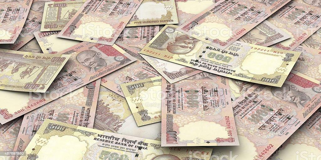 Rupees Bills stock photo