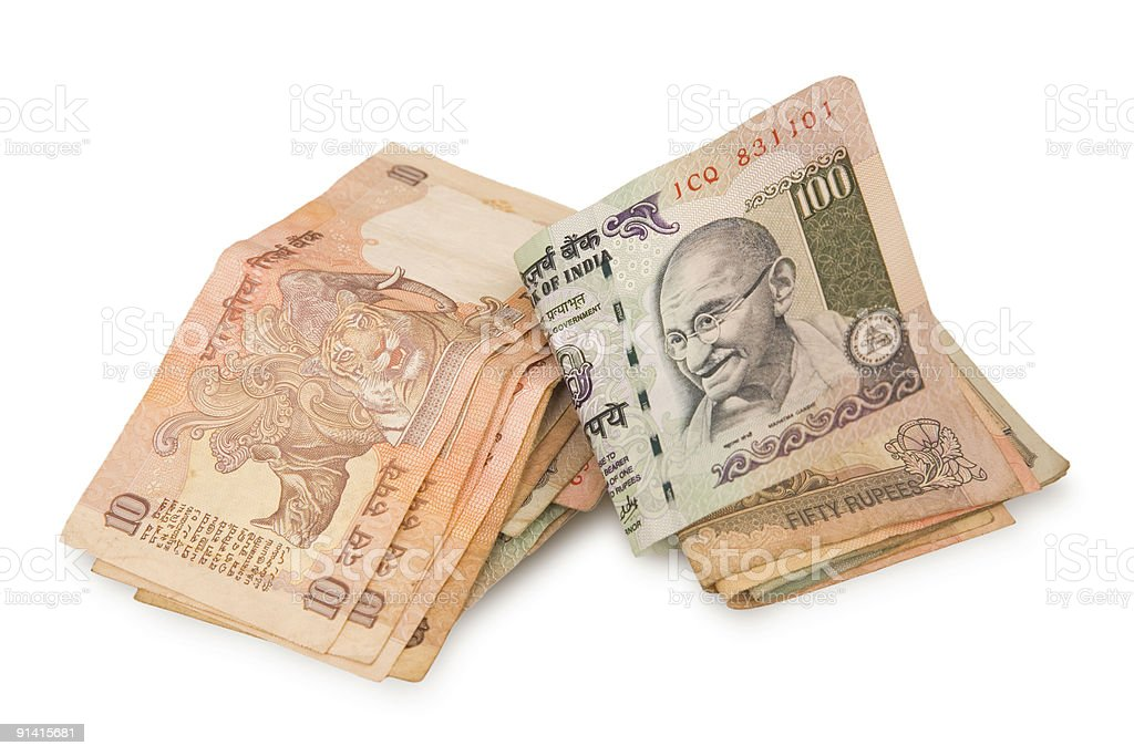Rupees isolated stock photo