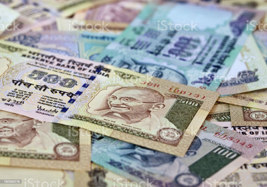 Rupees stock photo