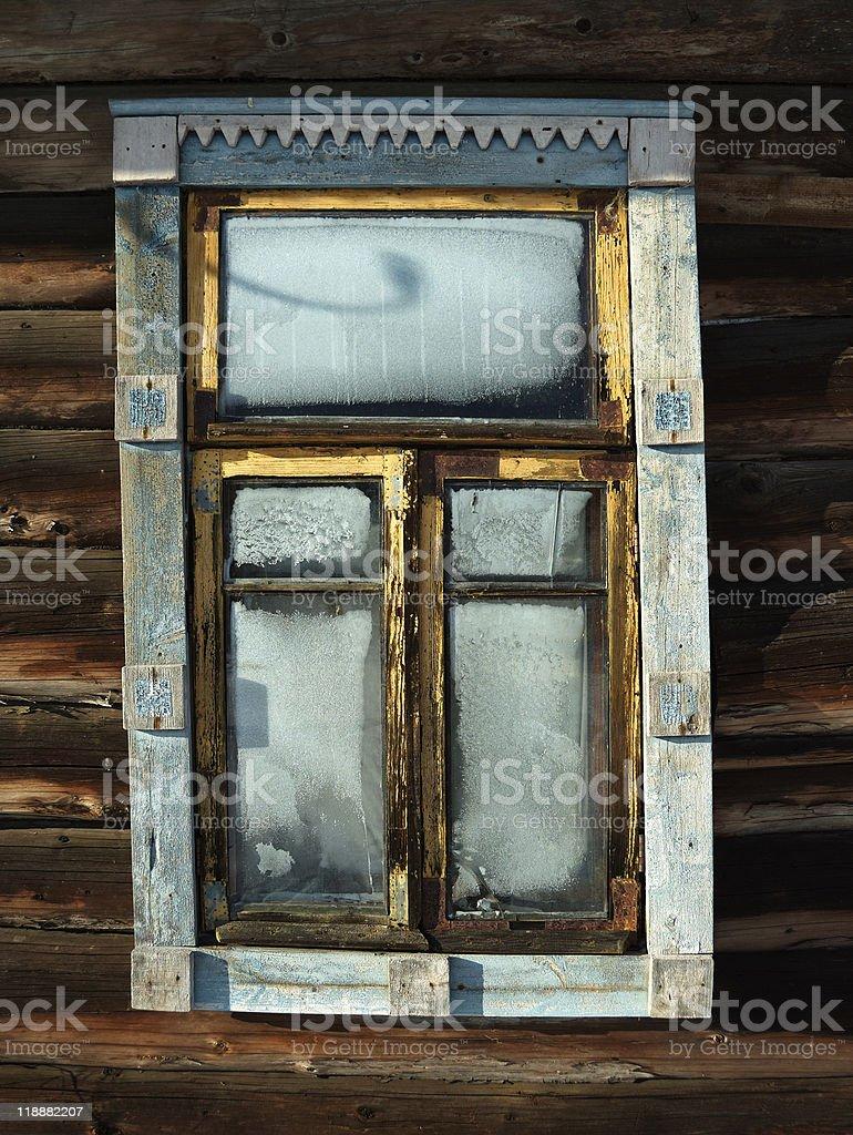 Rural A l'abandon fenêtre photo libre de droits