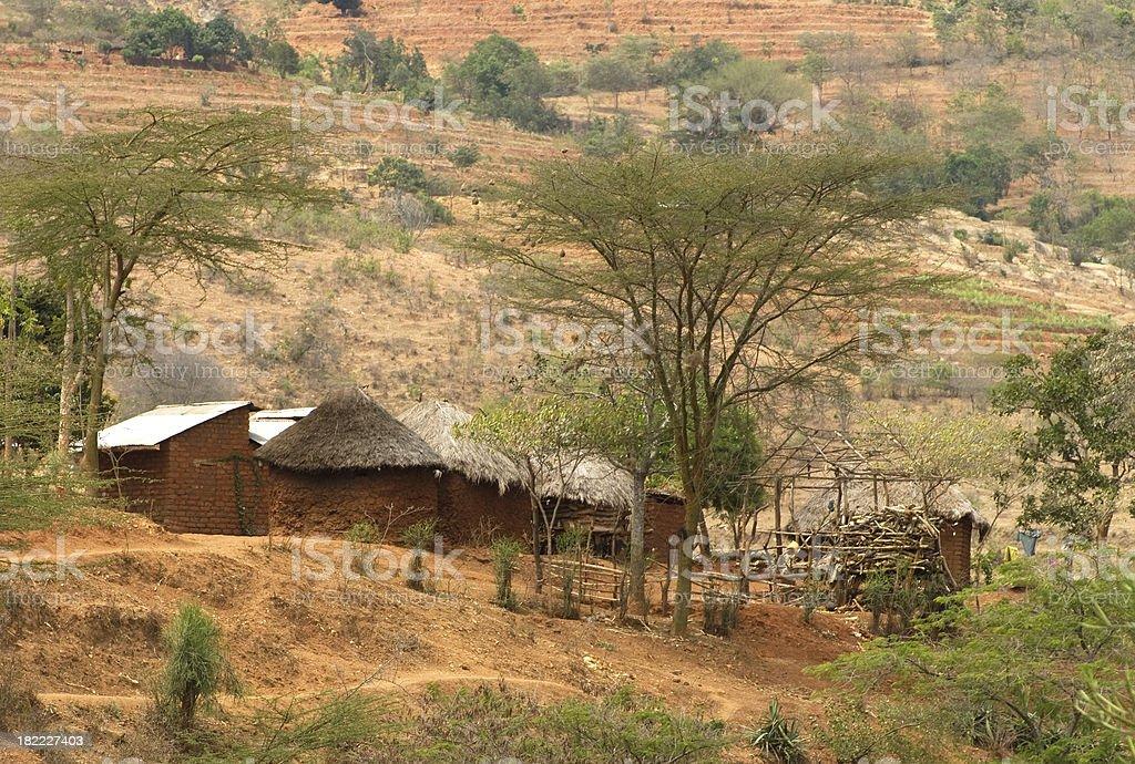 Rural African Farm stock photo