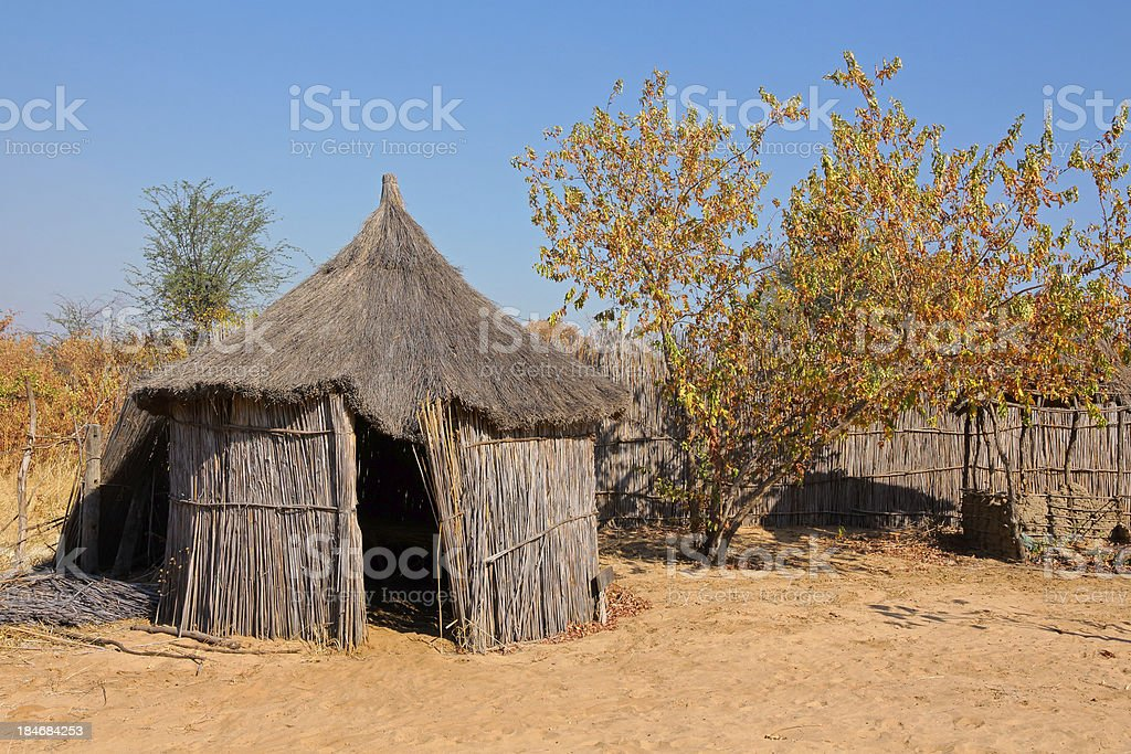 Rural African hut royalty-free stock photo