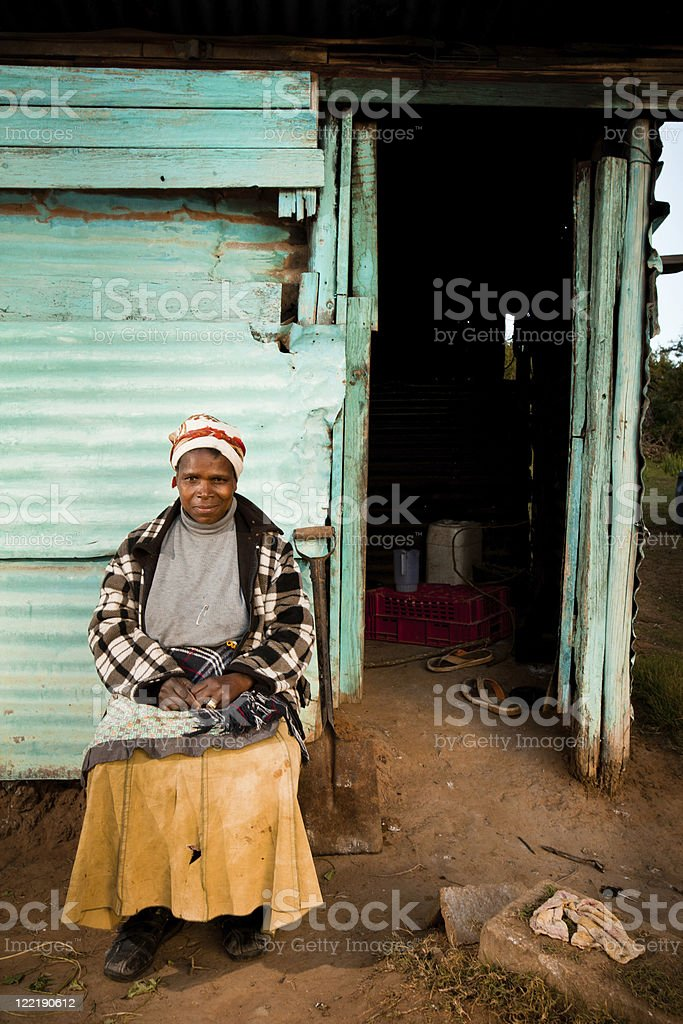 Rural African Woman stock photo