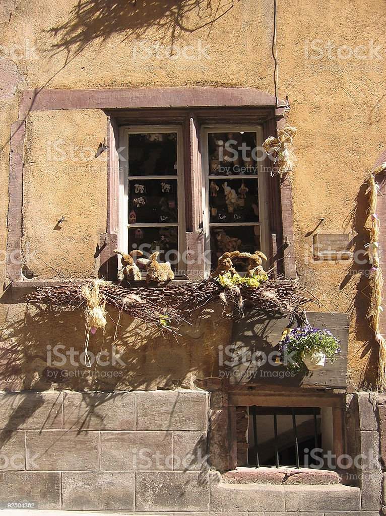 rural architecture alsace royalty-free stock photo