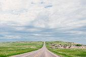 Rural American Road Badlands National Park South Dakota Travel USA