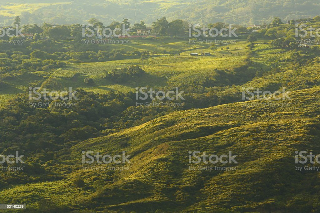 Rural and Urban Mix on Top Mountain stock photo