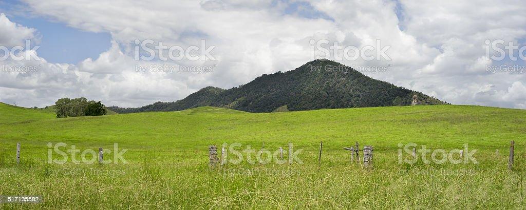 Rural Australia Panorama Country Scene stock photo
