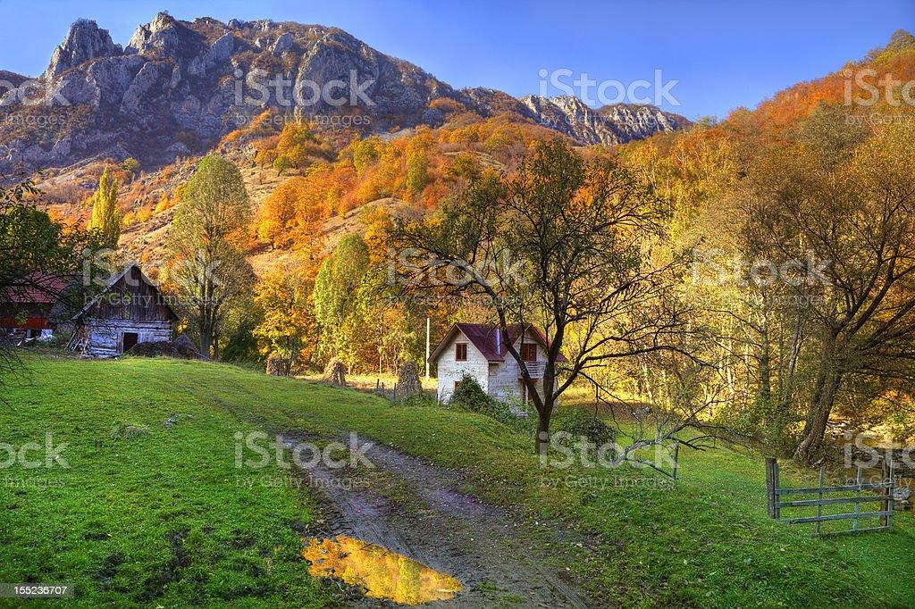 Rural Autumn Landscape royalty-free stock photo