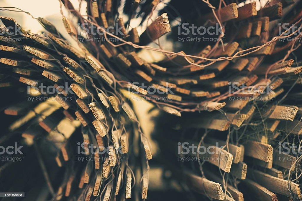 rural autumn texture background snow fence royalty-free stock photo