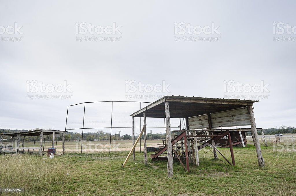 Rural baseball diamond royalty-free stock photo