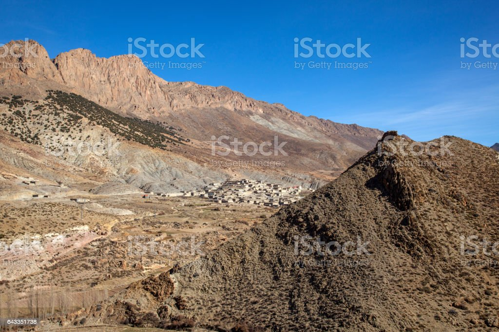 Rural Berber mountain village in Morocco stock photo