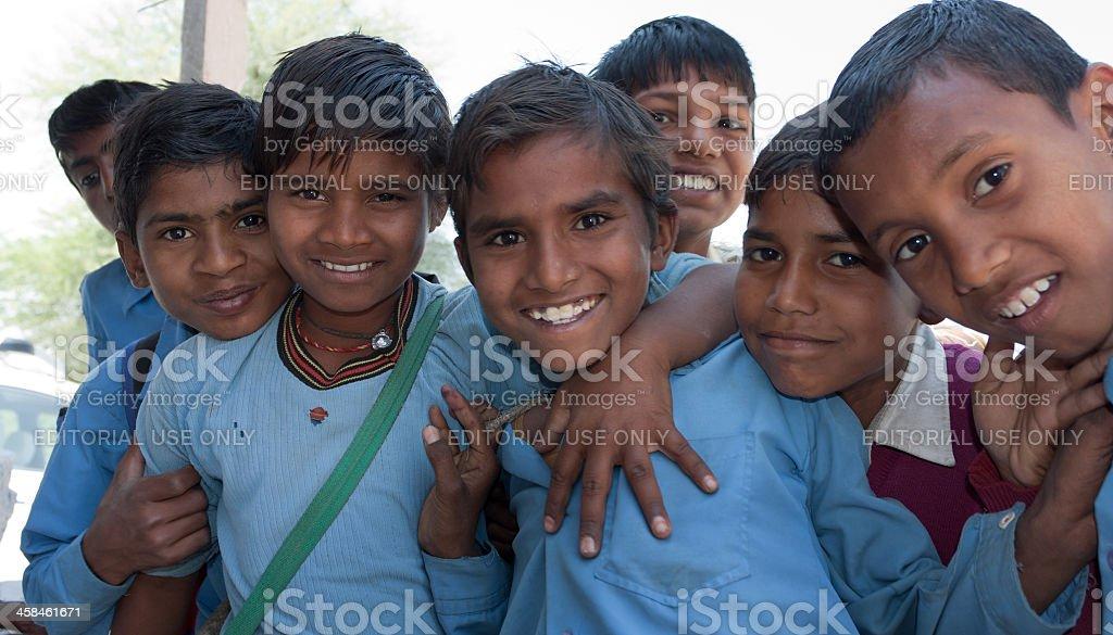 Rural Children in India stock photo
