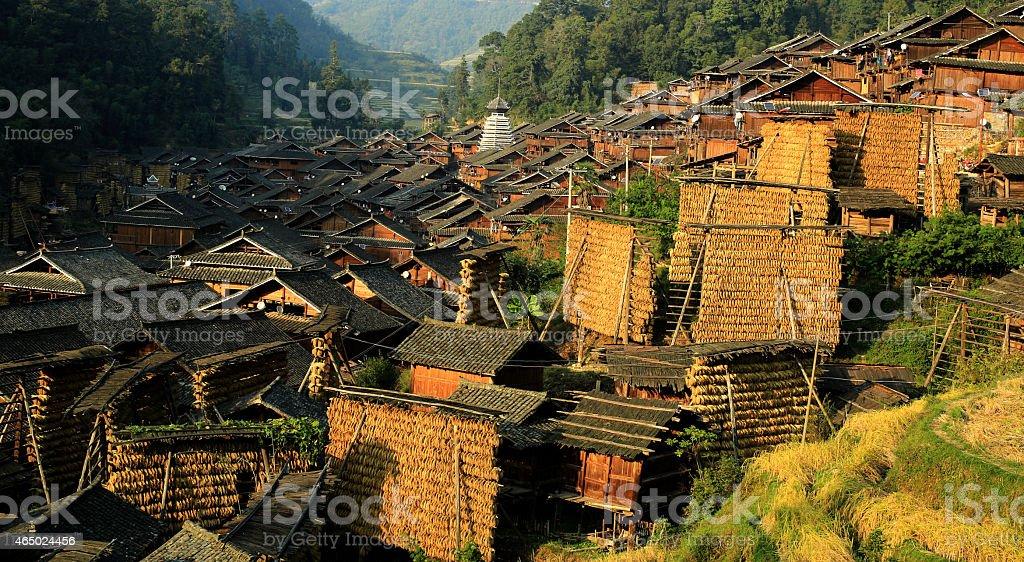 Rural Chinese mountain stock photo