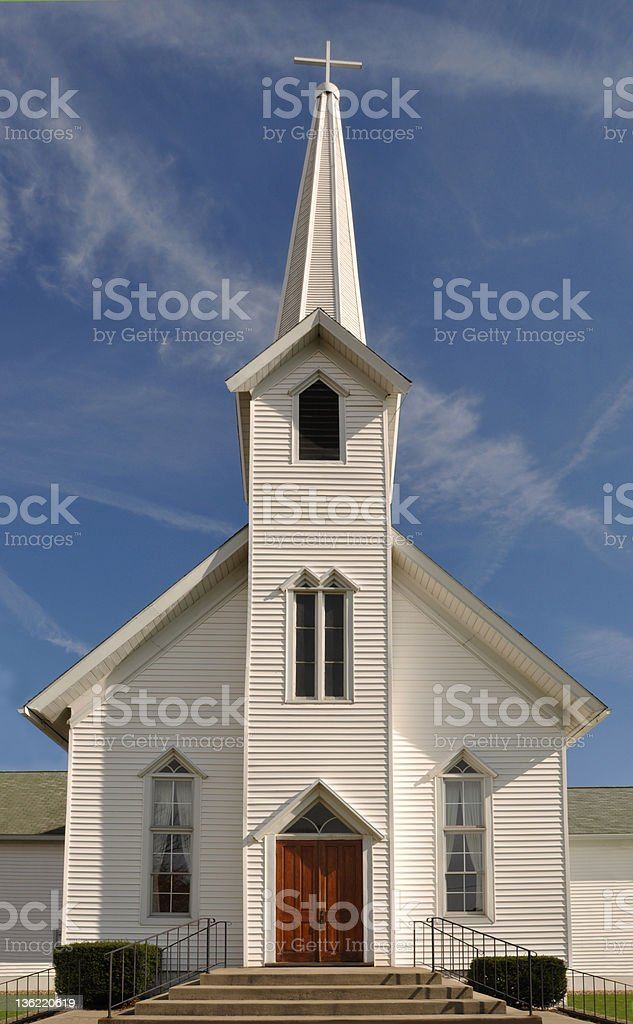 Rural Church, Midwest, USA stock photo