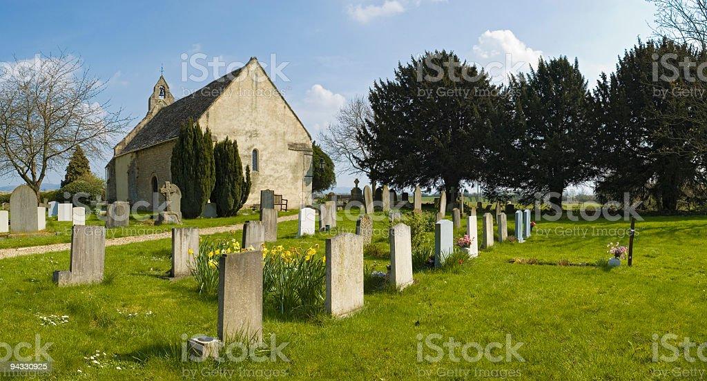 Rural churchyard royalty-free stock photo