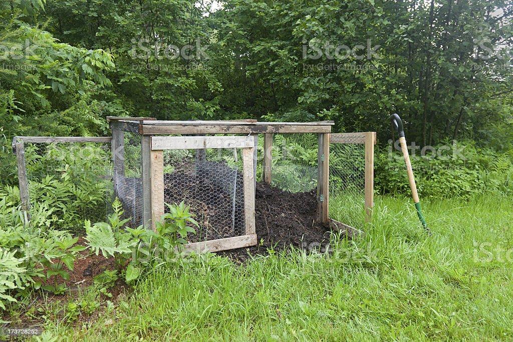 Rural Compost Bin stock photo