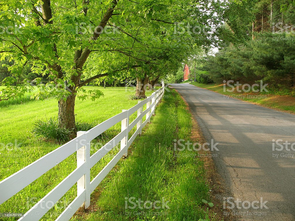 Rural Country Morning royalty-free stock photo