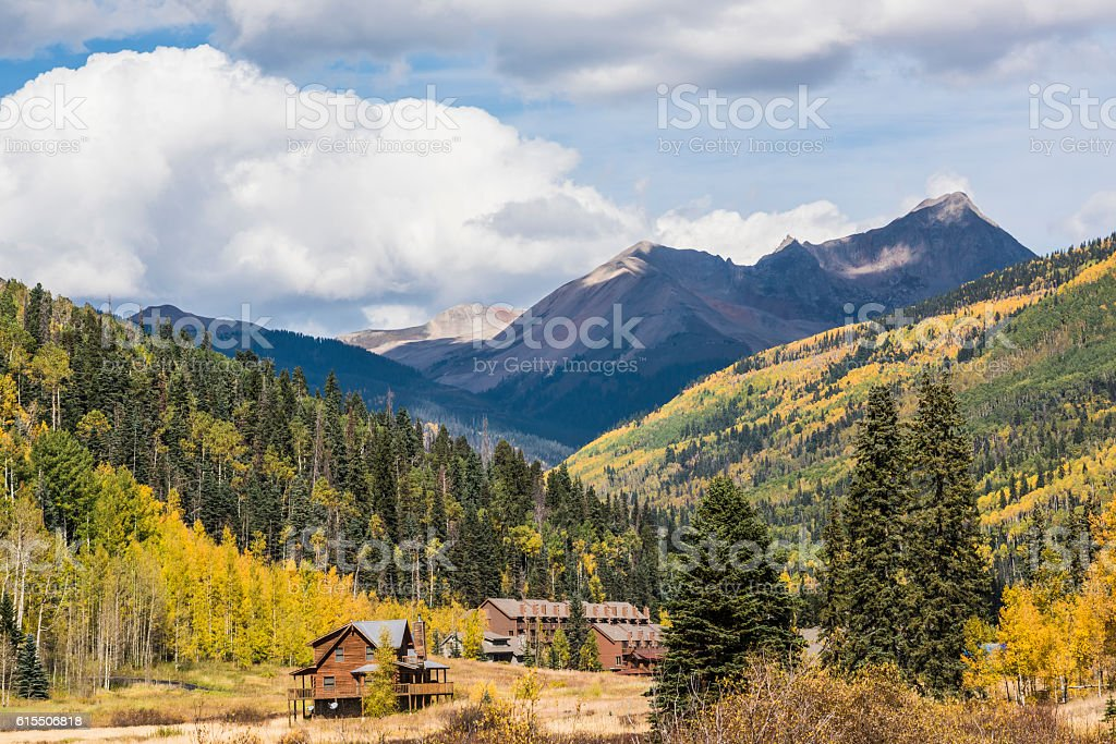 Rural Country view in Colorado, USA stock photo