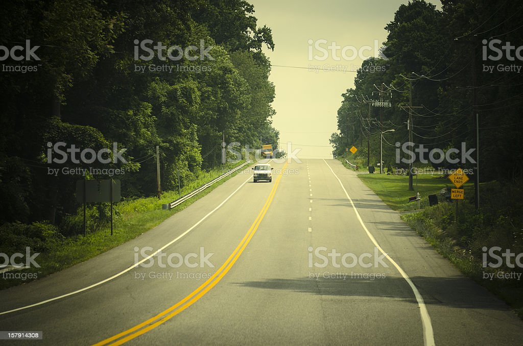 Rural coutryroads on the hill - Maryland royalty-free stock photo