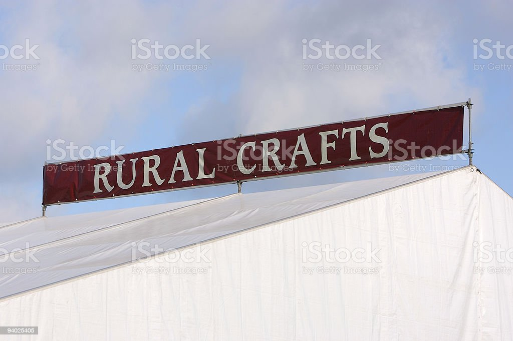 Rural Crafts Marquee royalty-free stock photo