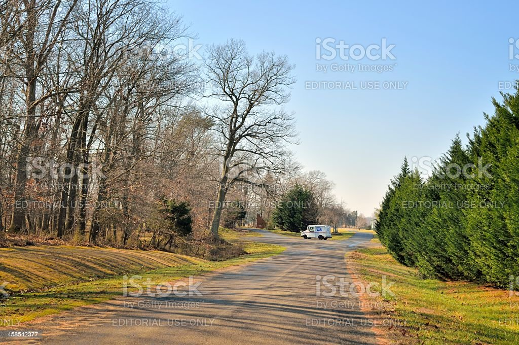 USPS Rural Delivery royalty-free stock photo