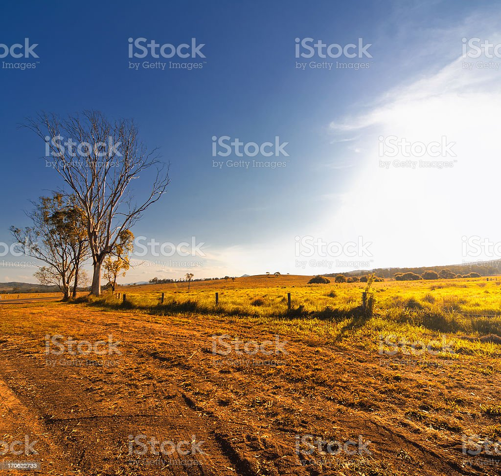 Rural Dirt Road stock photo
