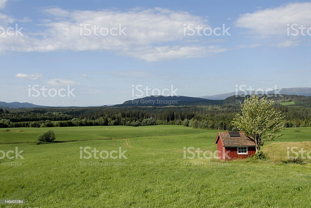 Rural district stock photo