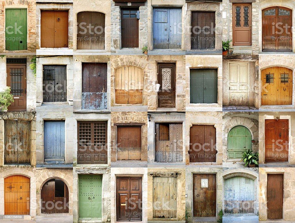 Rural doors stock photo