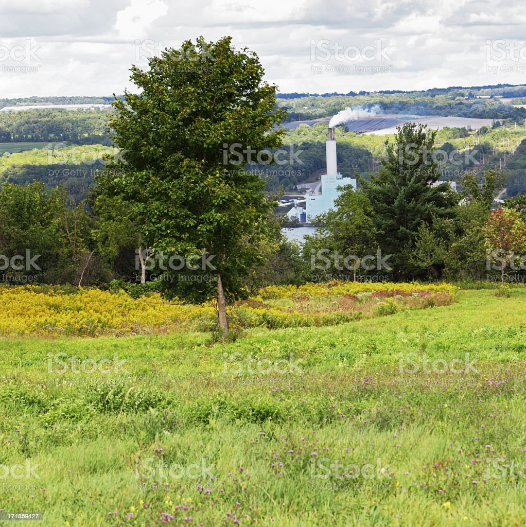Rural Electricity Generation Power Plant royalty-free stock photo