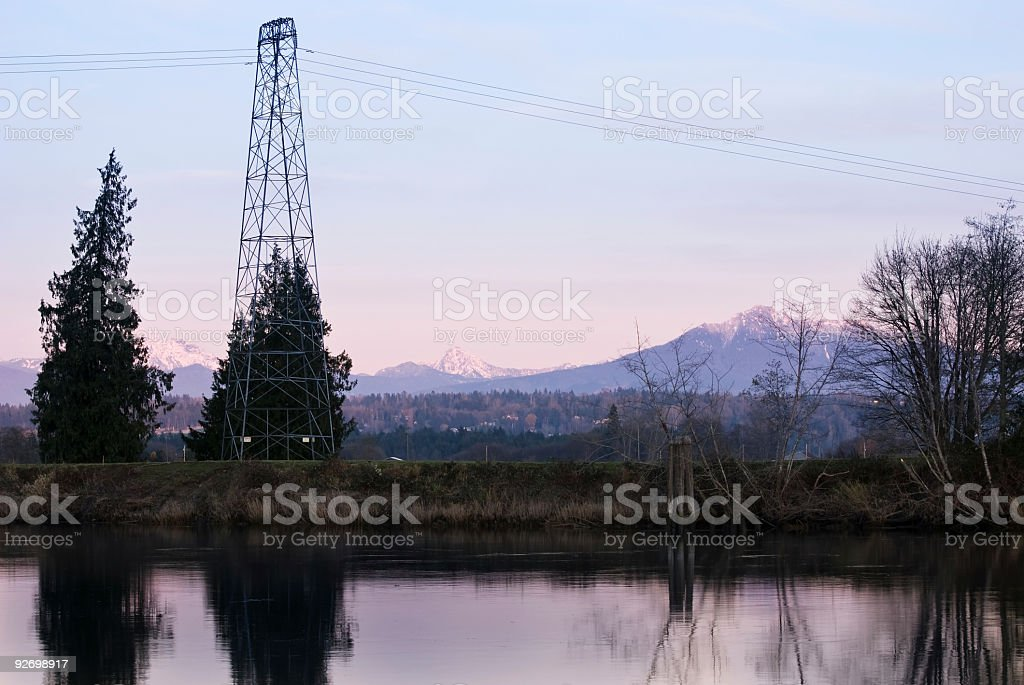 Rural Electricity stock photo