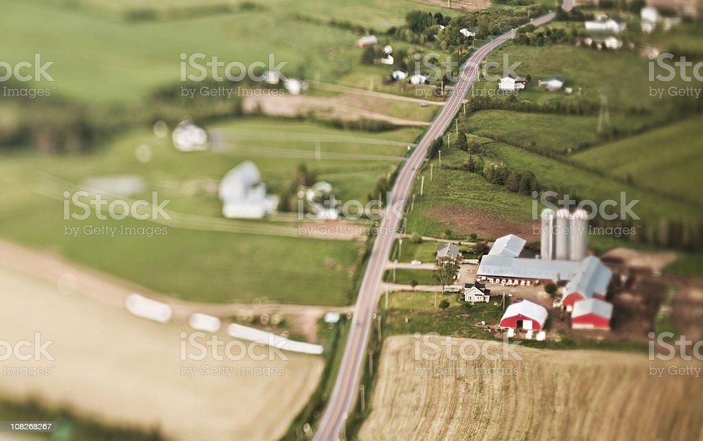 Rural Farm stock photo