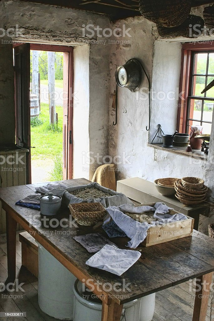 Rural Farmhouse Kitchen stock photo