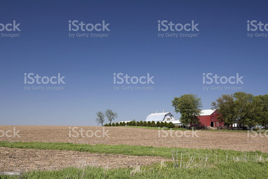 Rural Farmland in Midwestern USA royalty-free stock photo