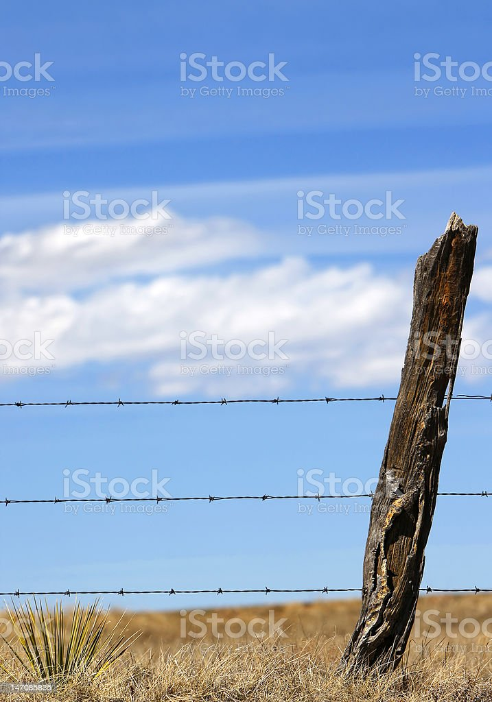 Rural Fence, Clouds & Sky royalty-free stock photo